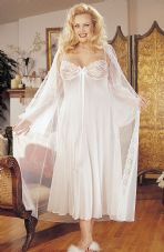 Intimate Attitudes 2 Piece Gown Set - White